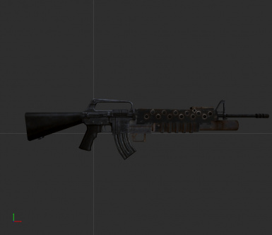 M16 Assault Rifle, with M203
