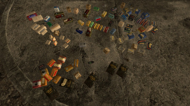 All the ammo, unceremoniously dumped on the ground
