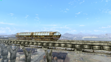 Monorails with Translucent Glass! Compatible with AmaccurzerO's Camp McCarran Animated Monorail!