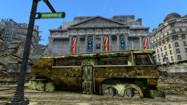 Optional TTW only Animated Translucent Glass Bus DOORS 20% complete