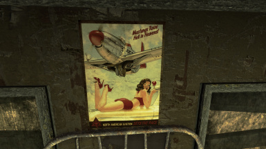 Pin up posters in the Men barracks