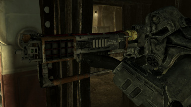 AER-14 Prototype Laser Rifle with Shifter Optics and Beam Splitter