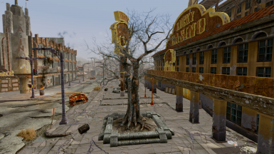 This is the Hardwood tree which lacks LOD in vanilla FNV