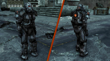 TTW and FO3 Enclave Hellfire Power Armor Retextured