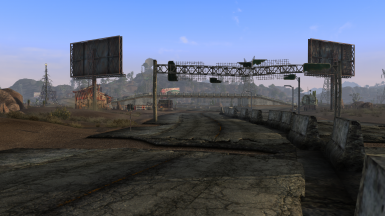 Urban overpass LOD meshes