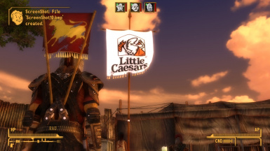 Battle for Hoover Oven- New Pizza Hut and Little Caesar's legion flags