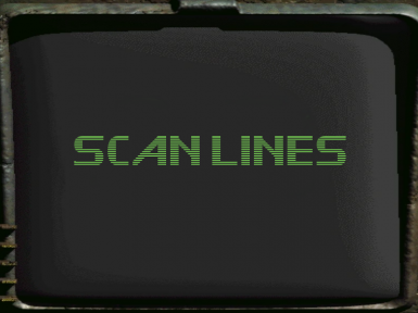 Pip-Boy Classic Scan Lines Texture