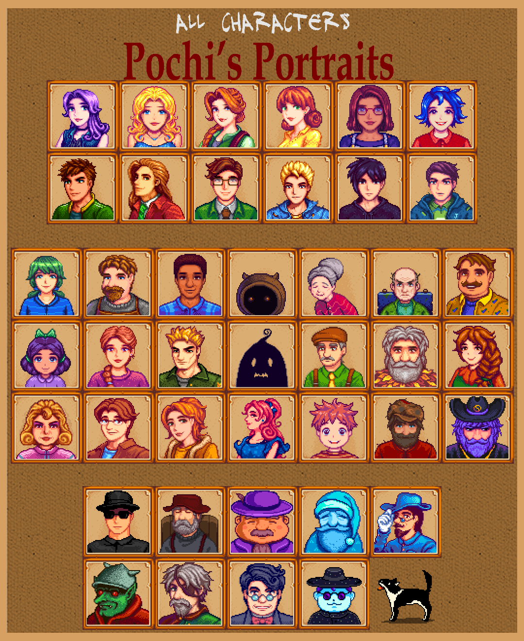 Fair And Balanced >> Pochi's portraits mod at Stardew Valley Nexus - Mods and community