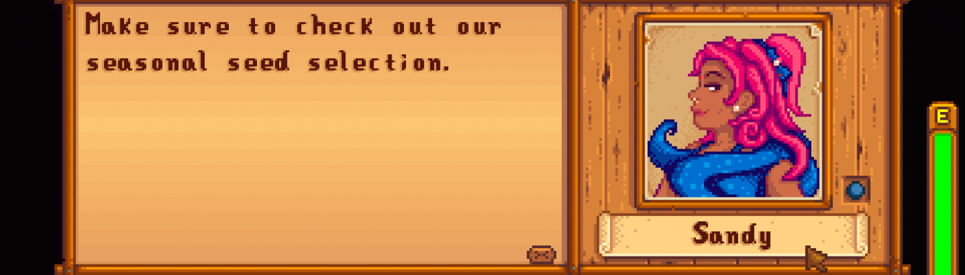 sandy character and portrait mod at stardew valley nexus