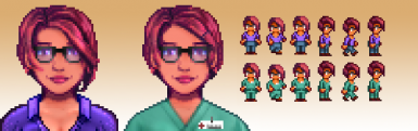 Nerdy Hot Maru - Sprite and Portrait Overhaul