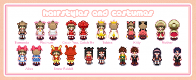 Cardcaptor Sakura Collection (Hair Hats Shirts and Skirts)
