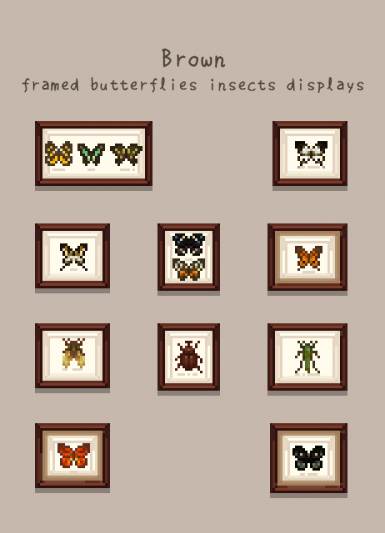 Mi's Framed Butterflies and insects Displays (Outdated)