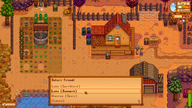 Send Items to other farmers  (saved games or online friends)