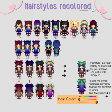 Hairstyles recolored and a new Hairstyle Update