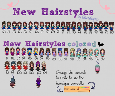 New Hairstyles and recolor