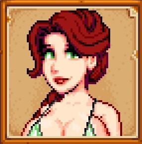 Dark red haired Leah at Stardew Valley Nexus - Mods and