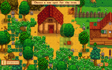 Uh oh cant place a tree there