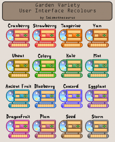 Garden Variety User Interface Recolours
