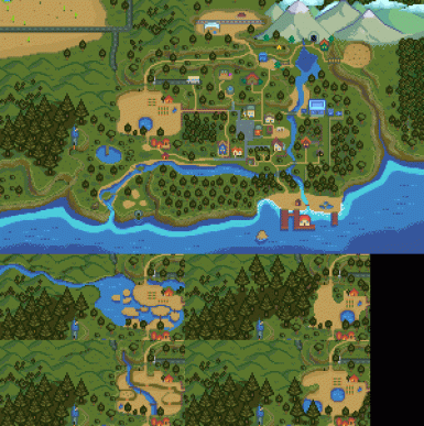 World Map for Eemie's Map Recolour at Stardew Valley Nexus   Mods