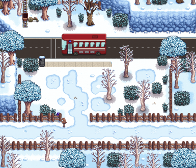 Winter: Bus Stop