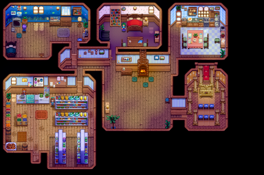 Interior: Pierre's Shop/Abigail, Pierre, and Caroline's House/Yoba Shrine