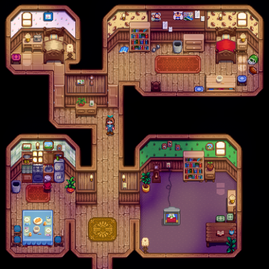Interior: George, Evelyn, and Alex's House