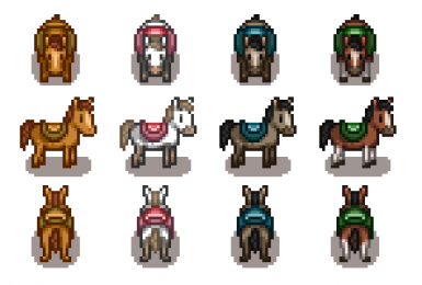 Improved horses ( 4 colors ) for CP
