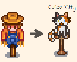 Kitty Scarecrow Replacements