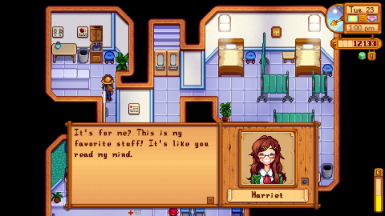Harriet liked gift