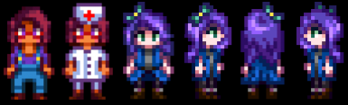 Maru Sprite with Glasses and Fixed Abigail's Bow Sprite