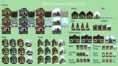 OBSOLETE - Flower Valley - Town and Farm Buildings ReDesign