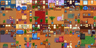 (Content Patcher) Spouse Rooms Redesigned