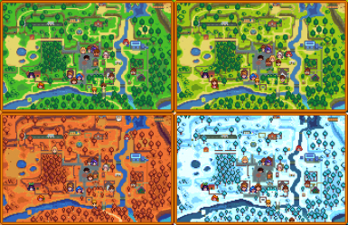 NPC Map Locations at Stardew Valley Nexus - Mods and community Valley On Map on