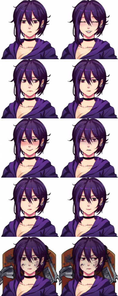 High Res Portraits for Adarin's girl mod