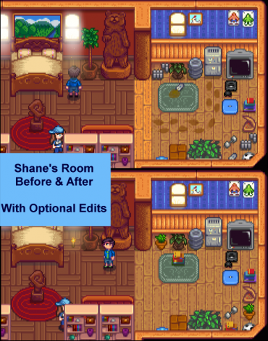 Shane's Room (Before and After) with Optional Tidying Edits