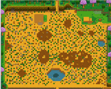 Farm map mod with ponds
