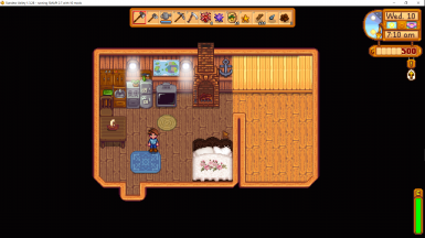 River Farmhouse (bed changed by custom linens)