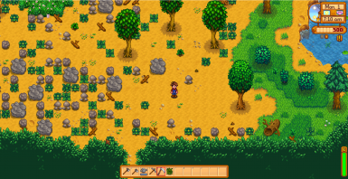 Forest farm with less lakes