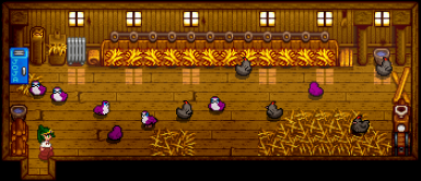 Blue (purple) porgs and Void Chickens. Void Chickens to receive their own sprite replacements later.