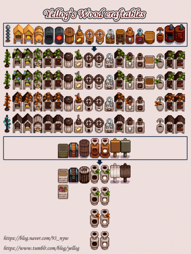 Yellog's Wood craftables (CP)