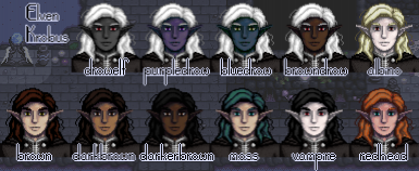 Multiple hair/skin color combos! Edit config file in [CP] folder to change from default drow!