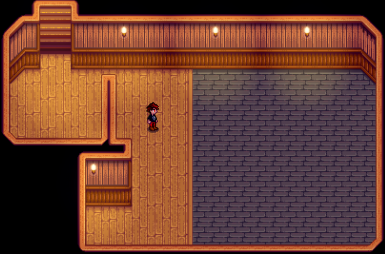 Your main cellar room. This where you'll land, if you go down the stairs in the kitchen after purchasing the third house upgrade