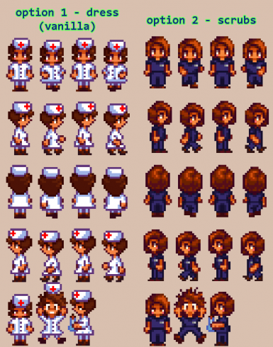 Maru hospital sprites (two variations available: vanilla or modded)