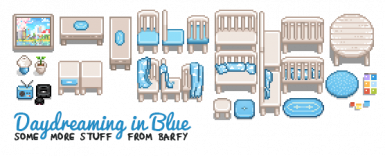 Daydreaming in Blue (blue items)