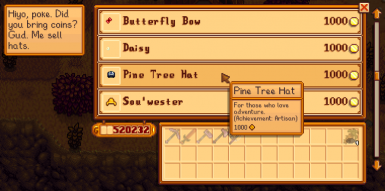 Pine Tree Hat Desc