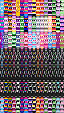 Picture of all the sprites in the older 1.0 version