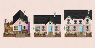 Flowery Pink Houses