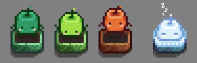 Animated Junimo Scarecrows