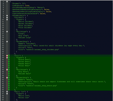 Example of editing BFAV's config file to add the Bears