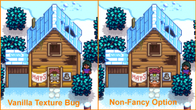 Texture bug fix if using mod without the fancy house (Note, this bug is fixed in Stardew 1.4)